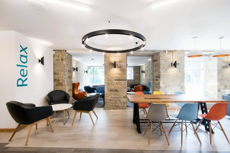 Image shows example of collaboration in workspaces by Ben Johnson Interiors
